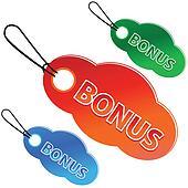 Bonus tags with price list