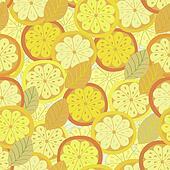 Orange seamless circles bright background