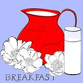 Illustration of pitcher with milk