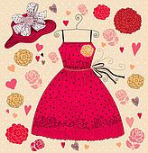 Fashion card with dress