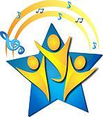 Teamwork singing talents logo