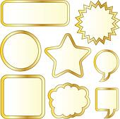 Blank gold foil stickers