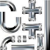 Plumbing pipes vector