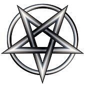 Metal pentagram vector