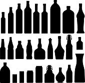 Bottles and jars silhouettes