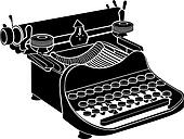 Manual typewriter vector