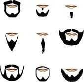 Facial hair variety vector
