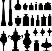 Jars, bottles and urns vector