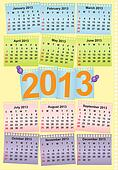 Cute monthly calendar for 2013