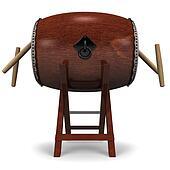 Japanese Drum And Sticks
