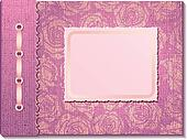 Pink fabric cover a photo album