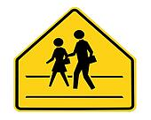 road sign - school crossing
