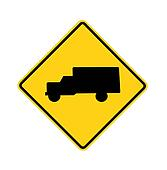 road sign - trucks crossing