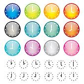 Set of watches sphere icons
