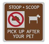 Stoop & scoop sign