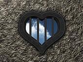 heart prison window