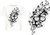 t-shirt design butterflys
