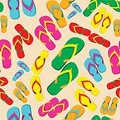 Multicolored flip flop pattern