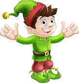 Christmas elf waving