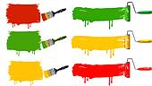 Paint brush and paint roller