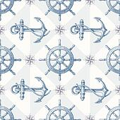 Seamless nautical background