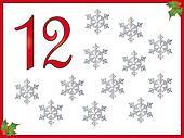 12 days of christmas: 12 Snowflakes