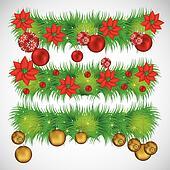Illustration of mistletoe garlands