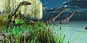 Brachiosaurus and Dilong Dinosaurs