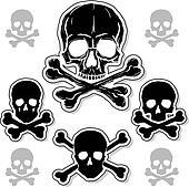 Set of Skulls with Crossbones