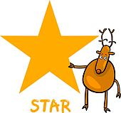 star shape with cartoon deer