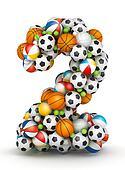 Number 2, gaming balls alphabet