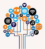 Social media networks business tree plan