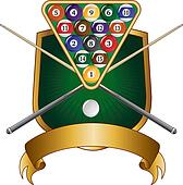Pool or Billiards Emblem Design Shi