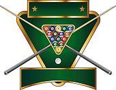 Pool or Billiards Emblem Design