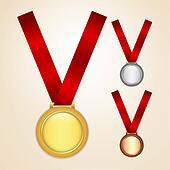 Set of medals