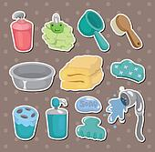 cartoon Bathroom Equipment  stickers