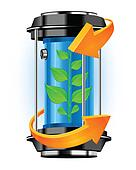 Energy container with plant