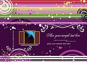 Purple doted  background with wind