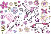 Unicorn Pegasus Fairytale set