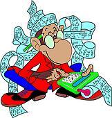 Accountant monkey