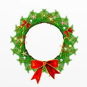 Christmas Wreath with Christmas Dec