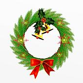 Cristmas Wreath of Pine Leaves with