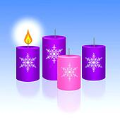 Three Blue and One Pink of Christma