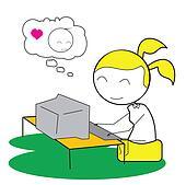 girl computer chat