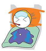 boy sleep sick