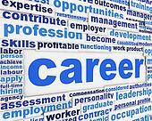 Career slogan poster design