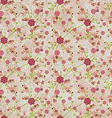 flowers pattern paper grunge vintage background