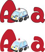 letter A ambulance