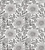 Decorative flower seamless background