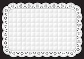 Placemat, White Quilted Eyelet Lace